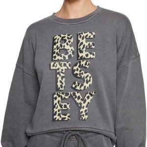 """NWT """"WILD"""" Betsey Johnson Cheetah Sweatshirt"""